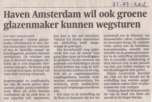2012-07-25 NHDagblad, Haven Amsterdam wil tijdelijke natuur de baas