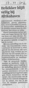 2012-07-27 NHDagblad, HavenAmsterdam verliest van tijdelijke natuur